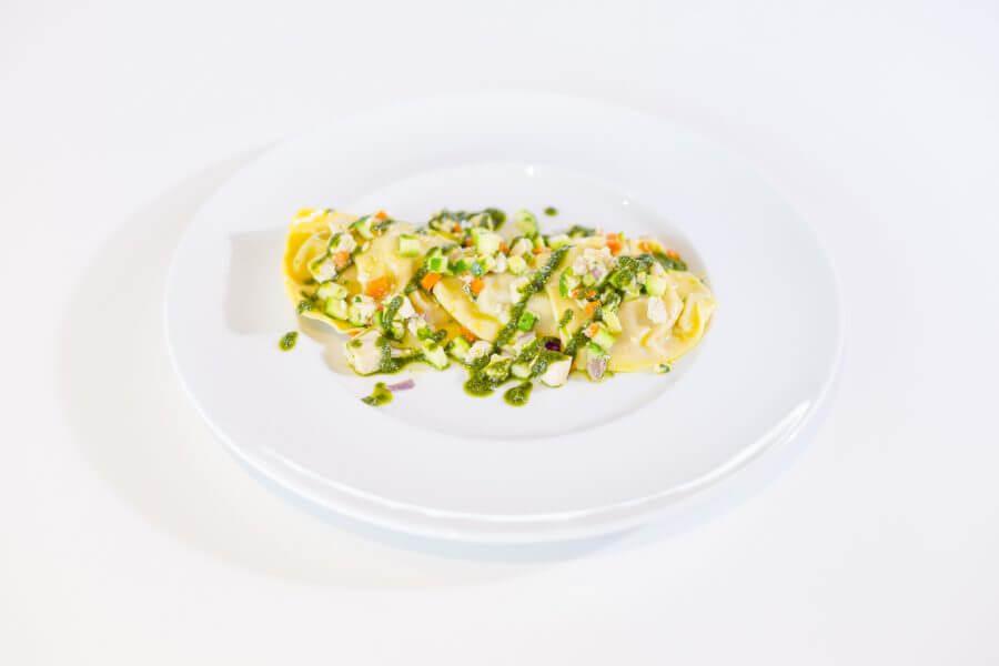 Tortellini ripieni di parmigiana di melanzane